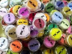 Цветные акриловые пудры TRINA, материалы для