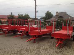 Platform garden Konteynerovozi of the Cart for a