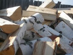 Дрова березовые колотые в контейнерах