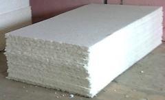 Secondary foam rubber of 100 mm in sheets (density
