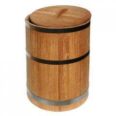 Кадка дубовая, деревянная