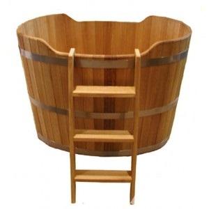 Font oak for a bath, a sauna