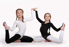 Leggings for gymnastics black and white hb 92