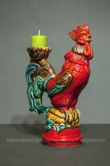"""Rooster the Fiery"""" souvenir, candlestick"""