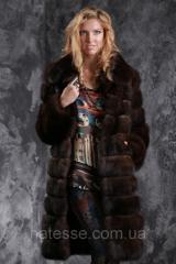 Шуба полушубок из баргузинского соболя sable jacket fur coat