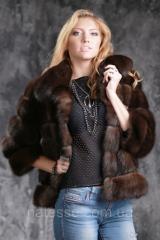 Полушубок из баргузинского соболя рукав 3/4 sable jacket fur coat