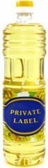 Масло подсолнечное рафинированное дезодорированное в ПЭТ бутылках PRIVATE LABEL