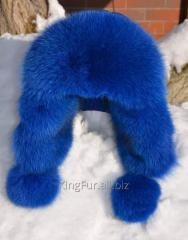 Cap with ear-flaps from fur of the Finnish polar