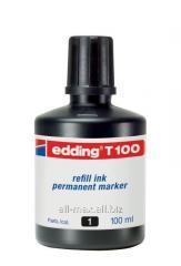 Чернила перманентные Edding T100 черные 100мл