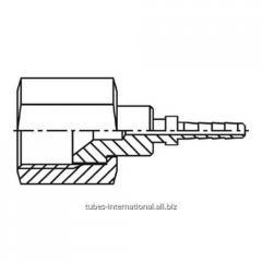 Внутренняя резьба UNF,  тип SAE,  конус 45°