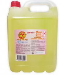 Detergent for ware of 5 five a lemon of 5 l