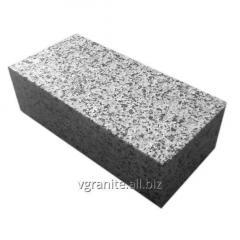Полнопиленная брусчатка 20х10х3см из серого