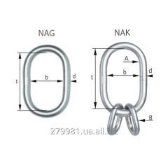 Oval rings of NIRO G60 NAG and NAK