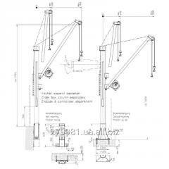 Manual console crane / model of 4551 360 kg