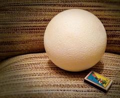 Пенопластовый шар 15см
