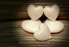 Сердце из пенопласта 9см