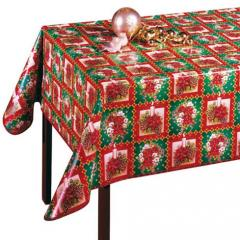 Festive cloth oilcloth on a table by New year and