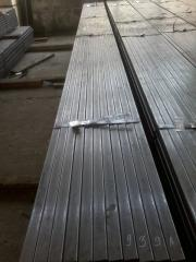 Welded steel profile pipe of rectangular and