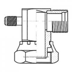 Адаптер 90° внутр. рез. / нар. рез. UNF с клапаном R12