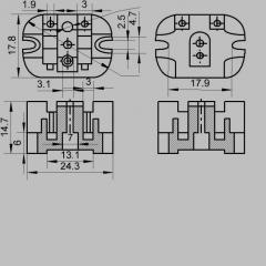 Isolador OU NIEYA 757532008 Para a tomada