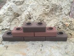 Brick facing-giperpresovany type (Lego) Brown