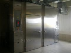 Chambers for cold and smoke-cured fish products