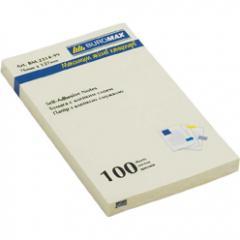 Блок бумаги для записей с клейким слоем Buromax АССОРТИ 76х127