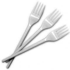Fork of Buroclean of disposable 16 cm of white 100