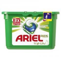 Гель для авт. стирки в капсулах Ariel 15X28.8г Горный родник