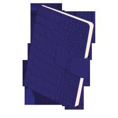 Ежедневник Buromax Croco (недатированный BM.2014) Синий