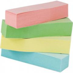 Закладки бумажные с клейким слоем Buromax