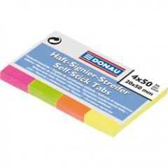 Закладки бумажные с клейким слоем Donau NEON