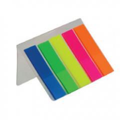 Закладки плаcтиковые с клейким слоем Buromax НЕОH BM.2302