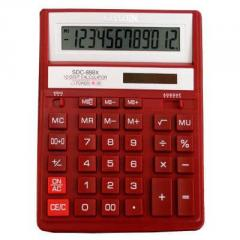 Citizen SDC-888 XRD calculator of 12 digit, red
