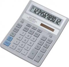 Citizen SDC-888 XWH calculator of 12 digit, white-gray