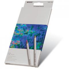 Colored pencils Marco Raffine of 12 flowers, six-sided