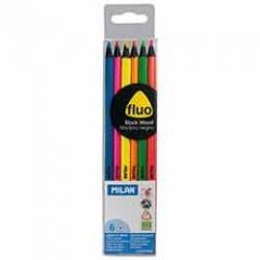 Colored pencils piece Milan NEON 6 triangular (ml.0752306)