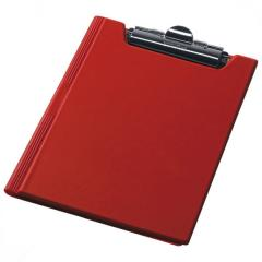 Clipboard folder of Panta Plast A4 PVC,  red...