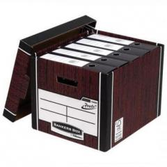 Box for archival boxes of Fellowes Bankers Box Woodgrain, brown