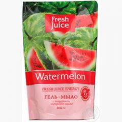 Крем-мыло жидкое Fresh Juice дой-пак, 460 мл, с глицерином Watermelon (e.13273)