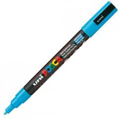 Маркер UNI POSCA 0.9-1.3мм, голубой (PC-3M.L.Blue)