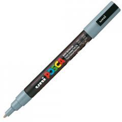 Маркер UNI POSCA 0.9-1.3мм, серый (PC-3M.Grey)