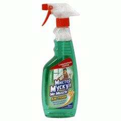 Средство Мистер Мускул для стекла с распылителем 500мл зеленый