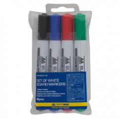 Набор из 4х маркеров для сухостираемых досок Buromax BM.8800-94