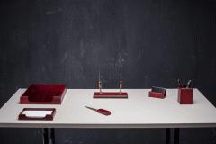 Desk set 6 subject Bestar, color: mahogany