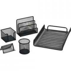 Desk set Buromax of metal 5 objects silver