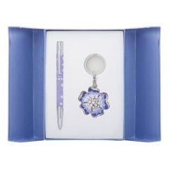 Набор подарочный Langres Bloom: ручка шариковая + брелок, фиолетовый LS.122019-07