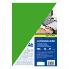 Обложка картонная Buromax глянец А4 250г/м2, (20 шт./уп.), зеленая
