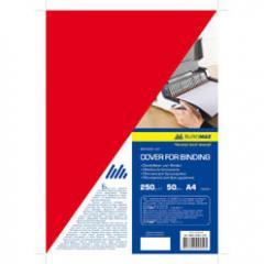 Обложка картонная Buromax глянец А4 250г/м2, (20 шт./уп.), красная