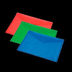 Папка конверт Panta Plast OMEGA A4 PP, прозрачный ассорти